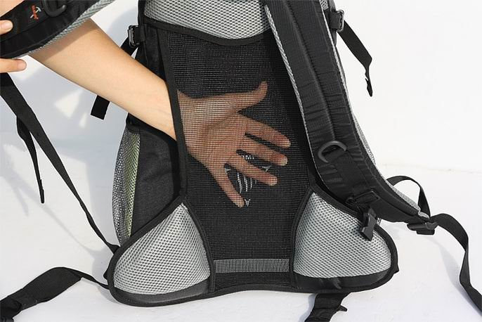 Ventilation on the backpack