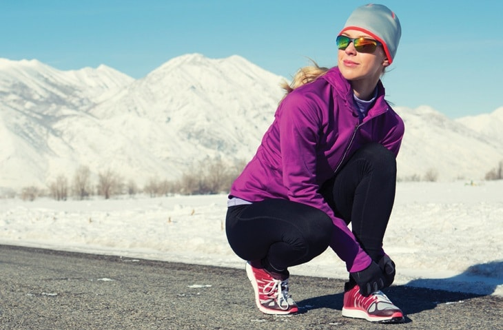 Woman in winter sport clothes