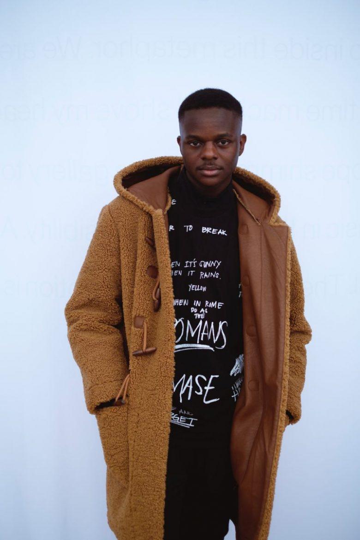 man in fleece jacket