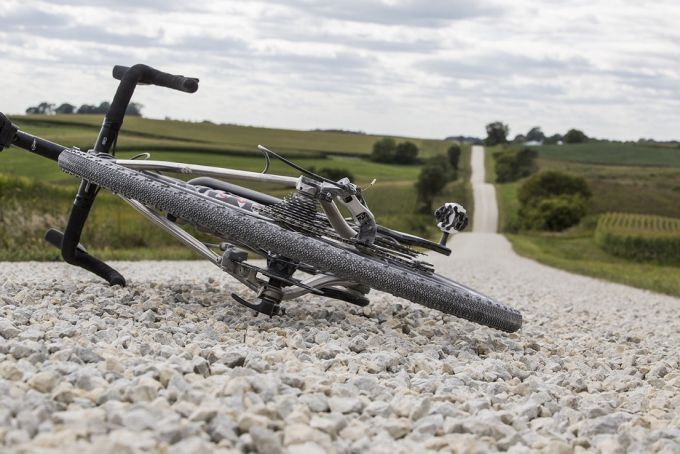 Bike on a gravel road