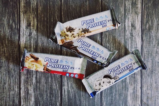 protein bars on table