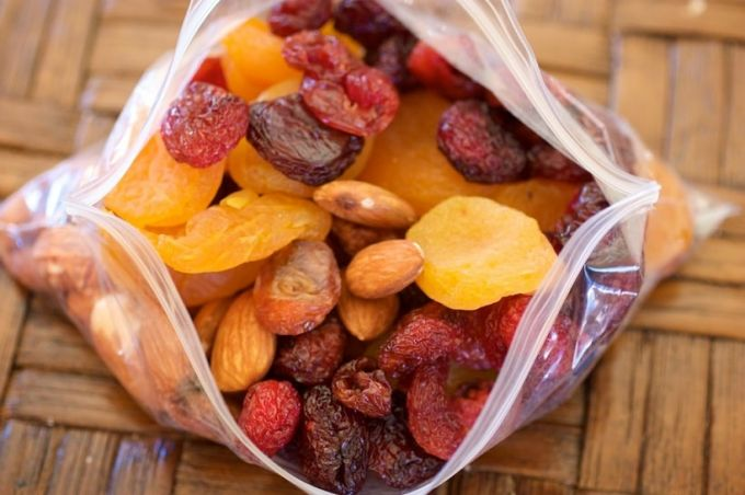 dry fruits in bag