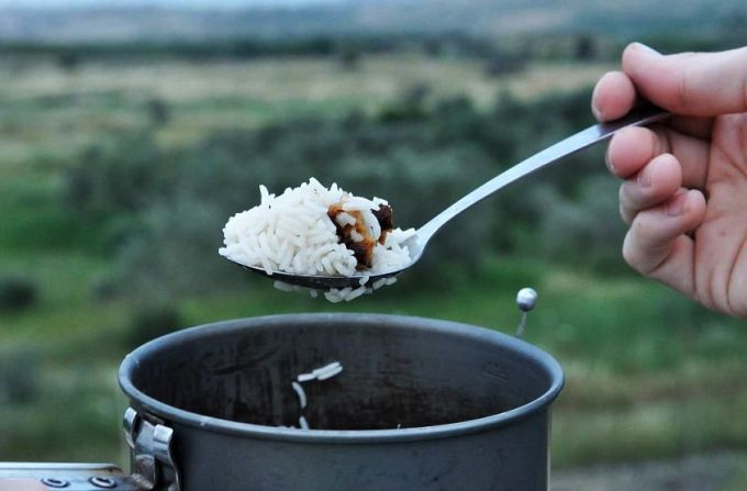 dinner for hikers