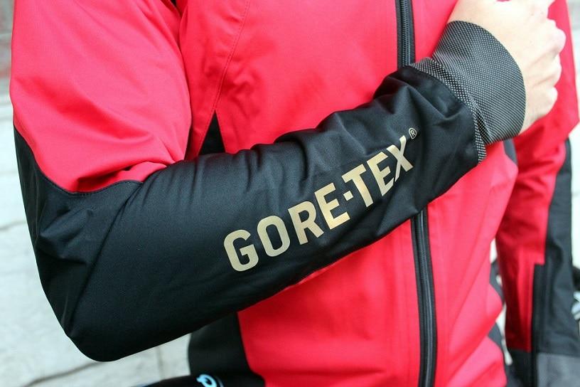 Man wearing Gore tex jacket