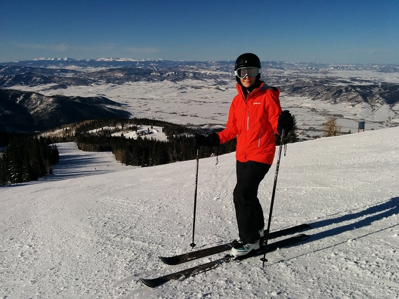 skiing with gore tex protection