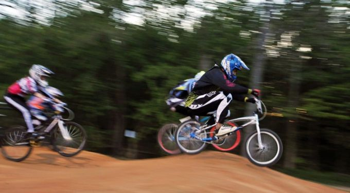 bmx bike on dirt track