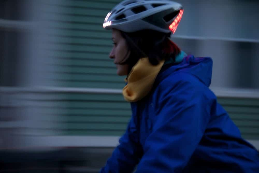 night riding with helmet
