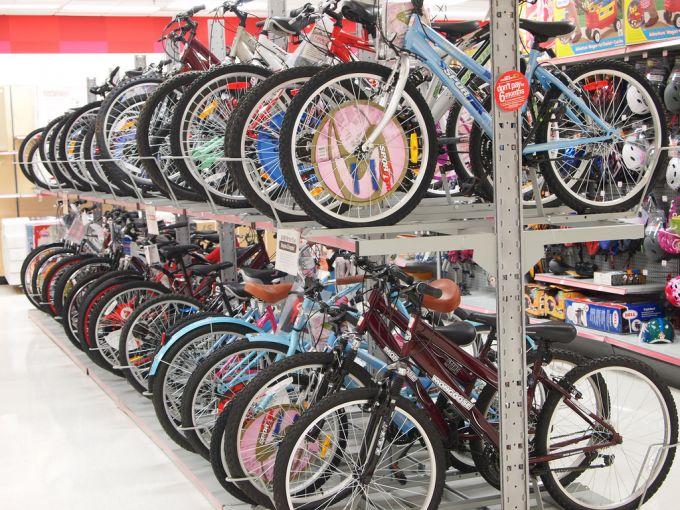 Bikes in a bike store