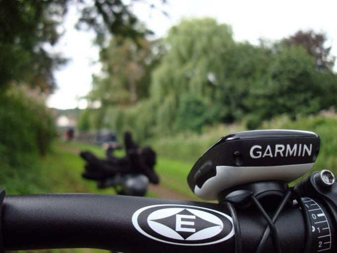 Germini bicycle tracker on attached on a bike