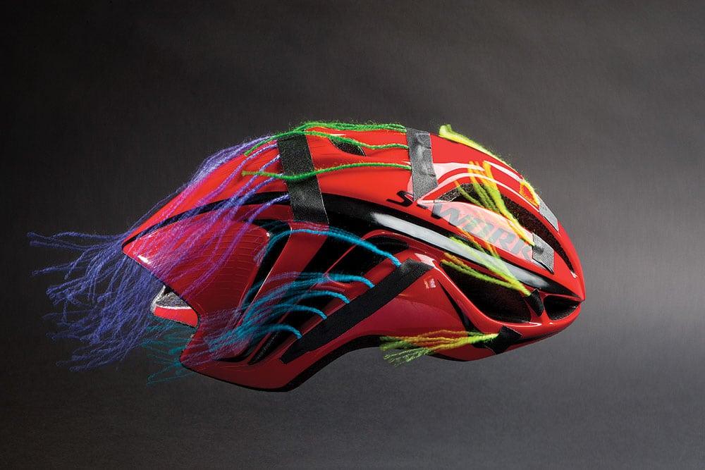 Aerodynamics of bike helmet