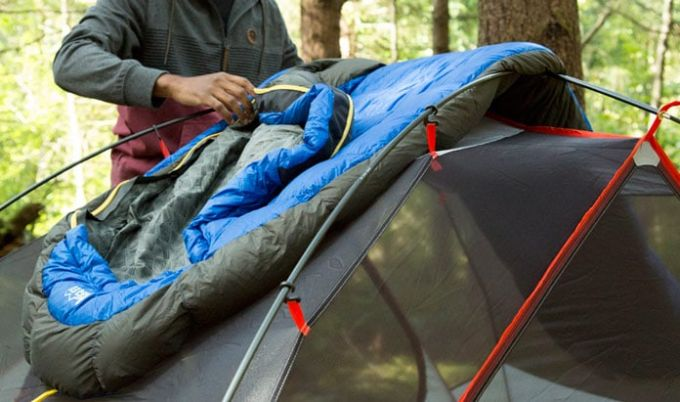 drying a sleeping bag