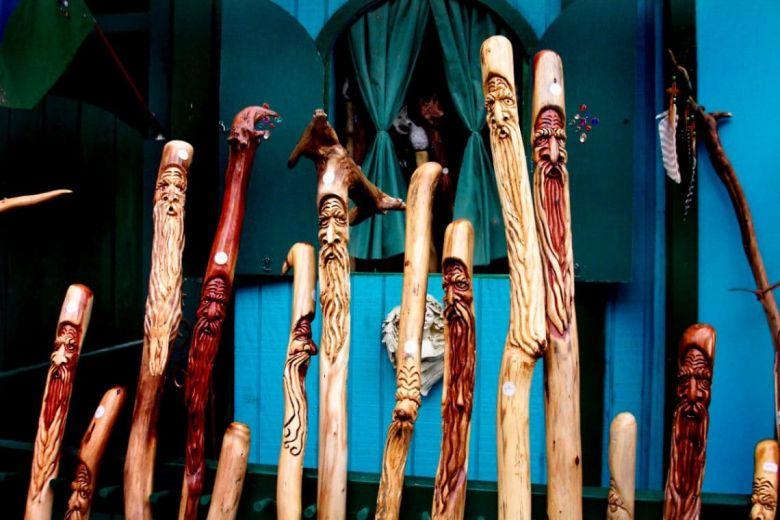 DIY wood walking stick
