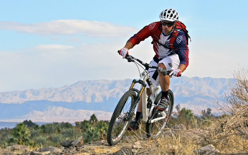 Riding a Hardtail Mountain Bike