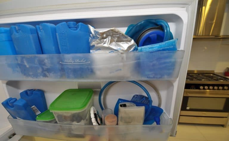Hydration bladder in a freezer