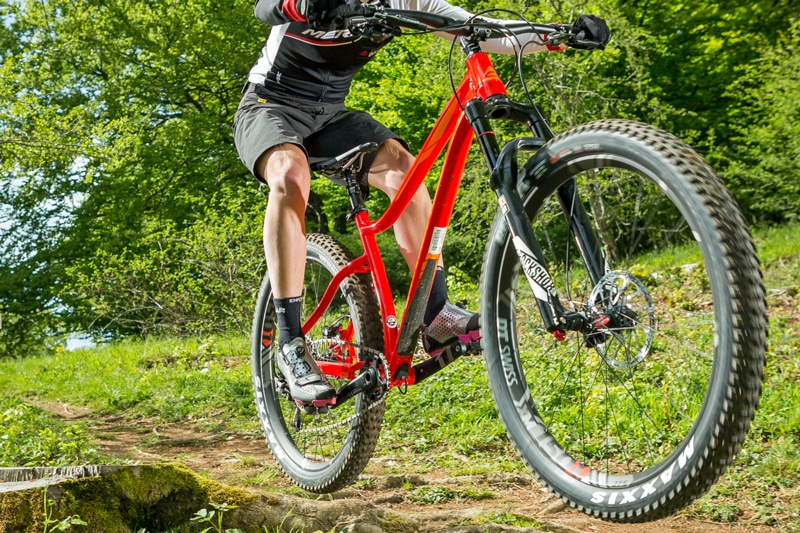 Aluminium frame mountain bike