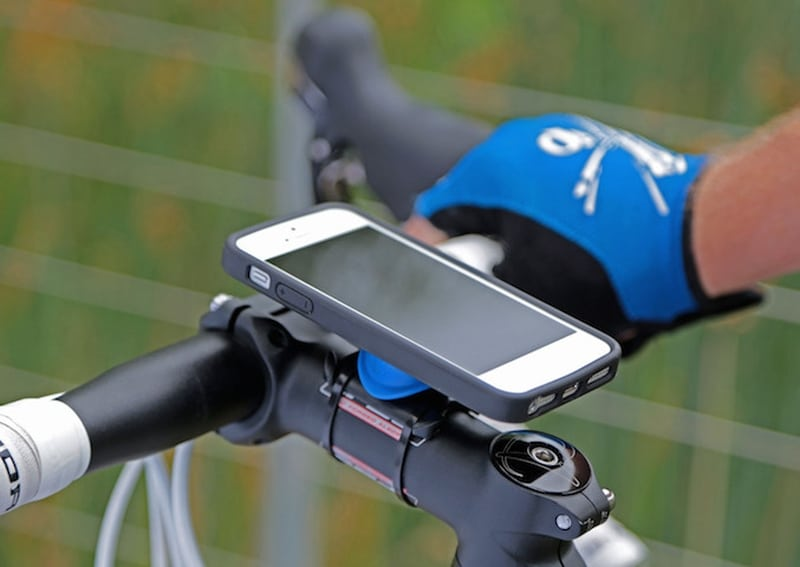 Phone on a bike mount