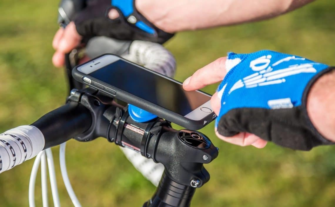 Unlocking phone while biking