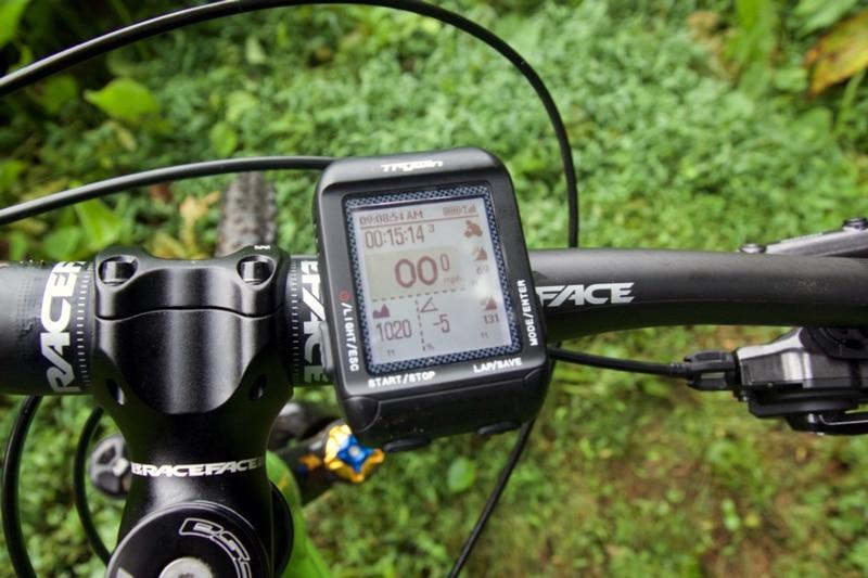 Bike mounted fitness tracker