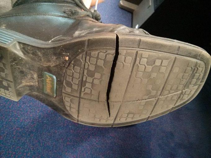 broken boots sole