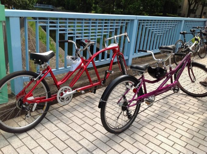 different size tandem bike