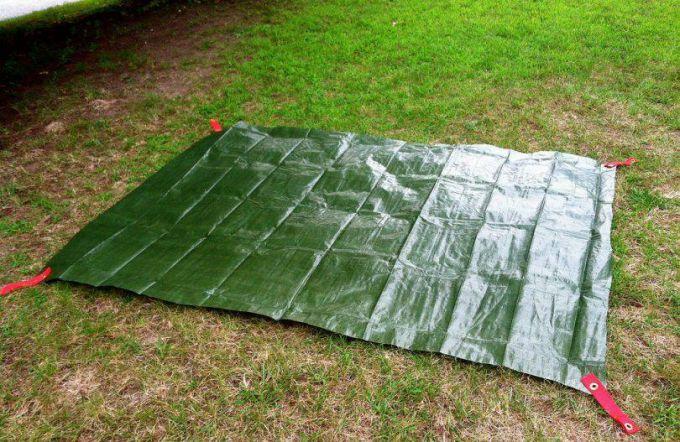 green diy tent footprint