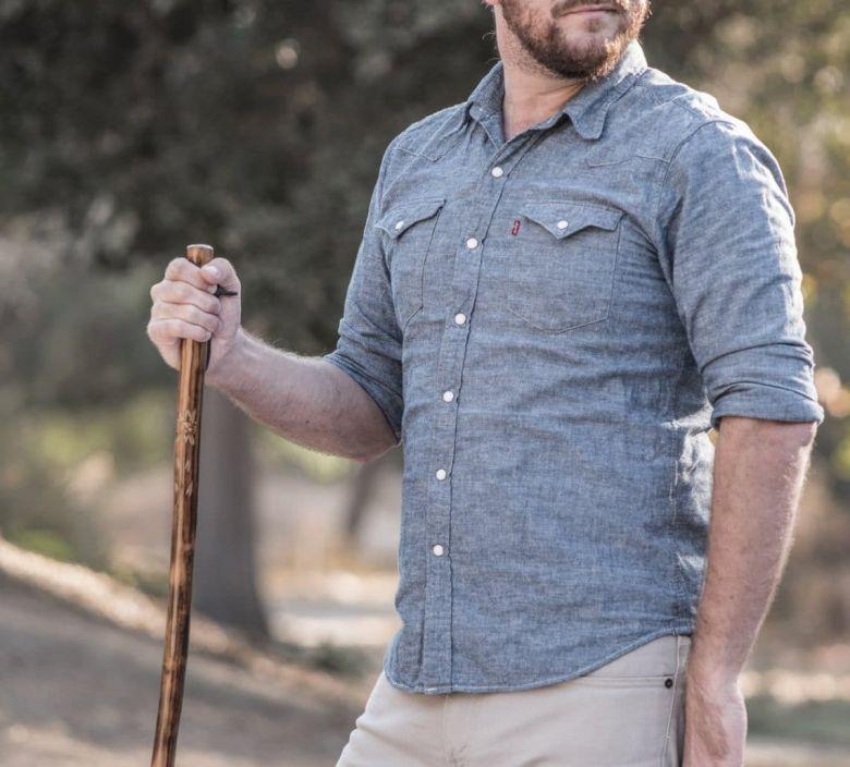 sturdiness of wood walking stick