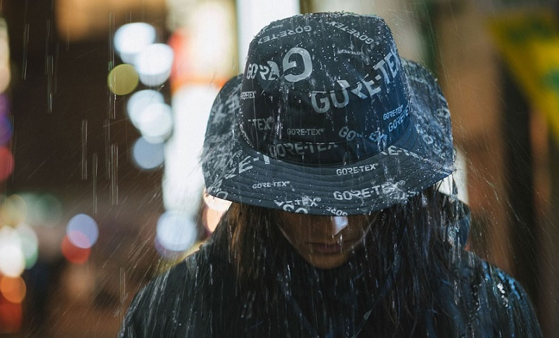 Girls wearing Gore-Tex hat