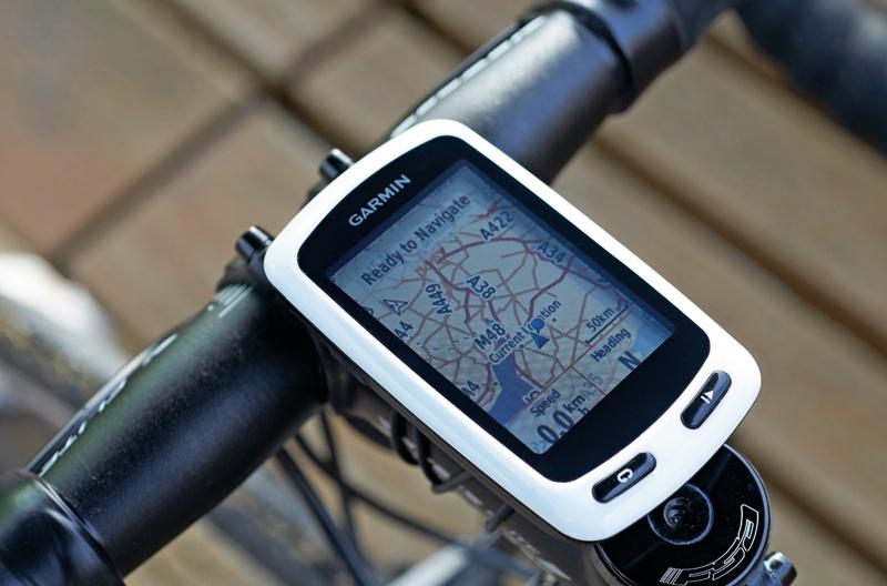 GPS navigation on biking tracker
