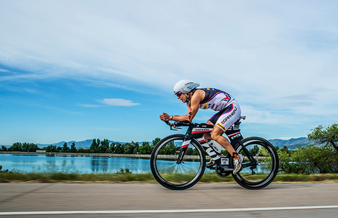 cyclist on ironman event