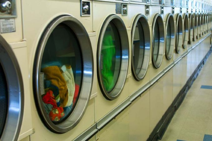 laundry machines in launderette store