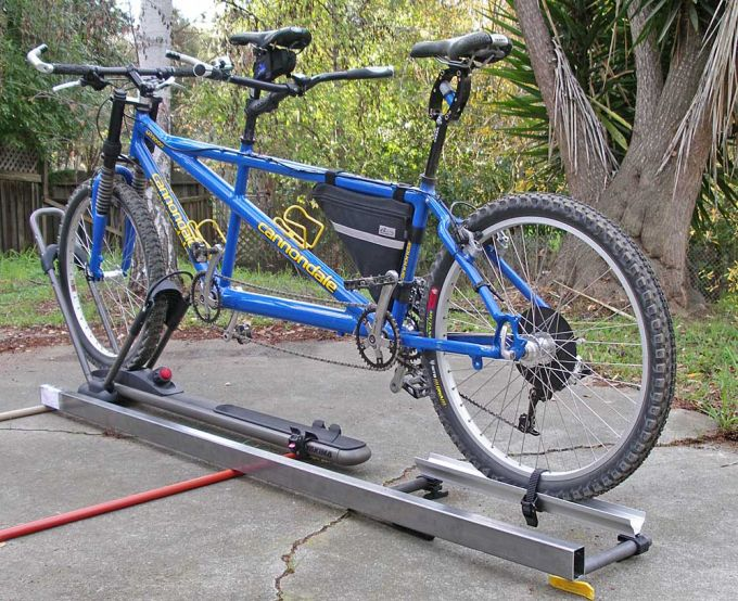 mountain frame tandem bike