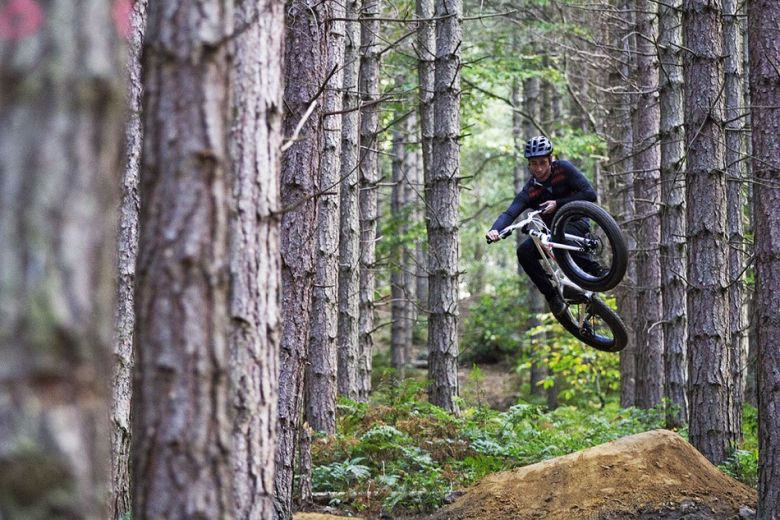 riding fat fat in the woods