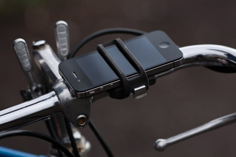 iPhone inside bike mount
