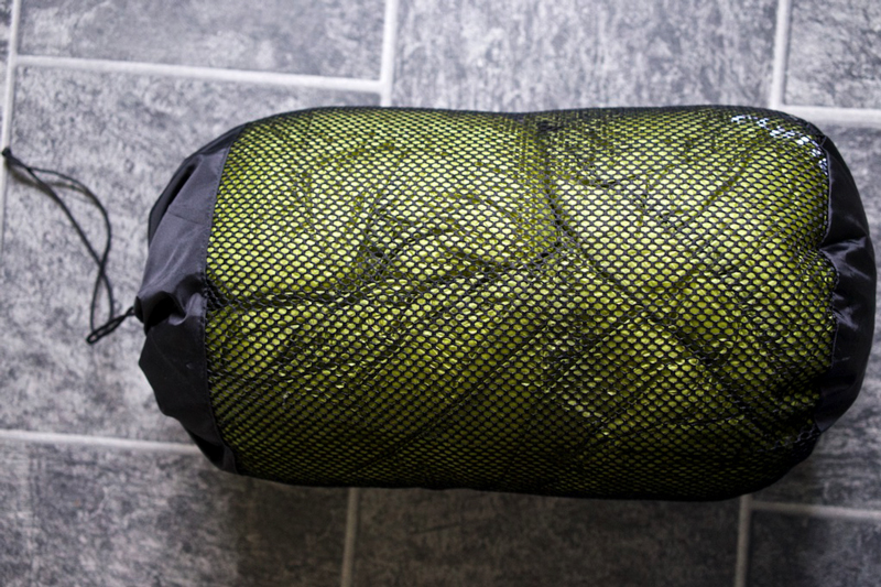 sleeping bag gets damaged