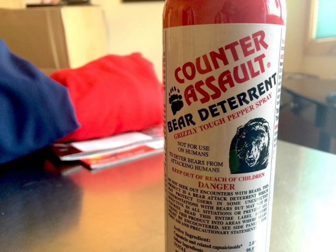 a bottle of bear spray