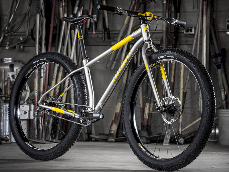 steel frame mountain bike