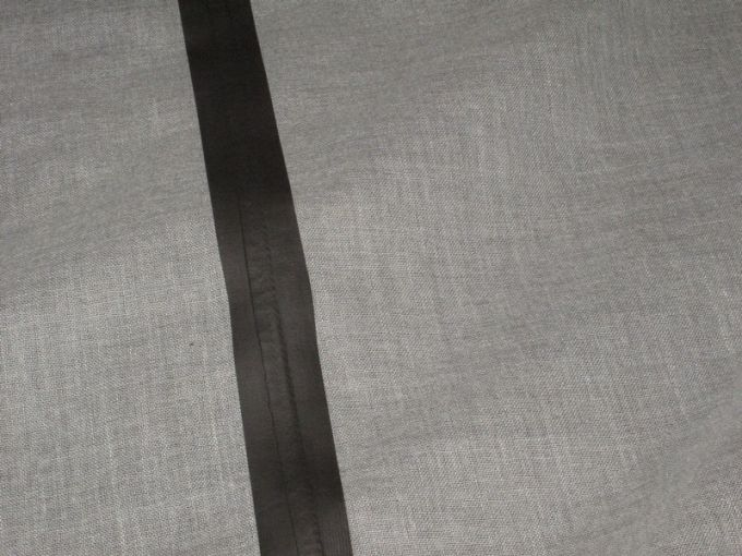 taped seams on fabric