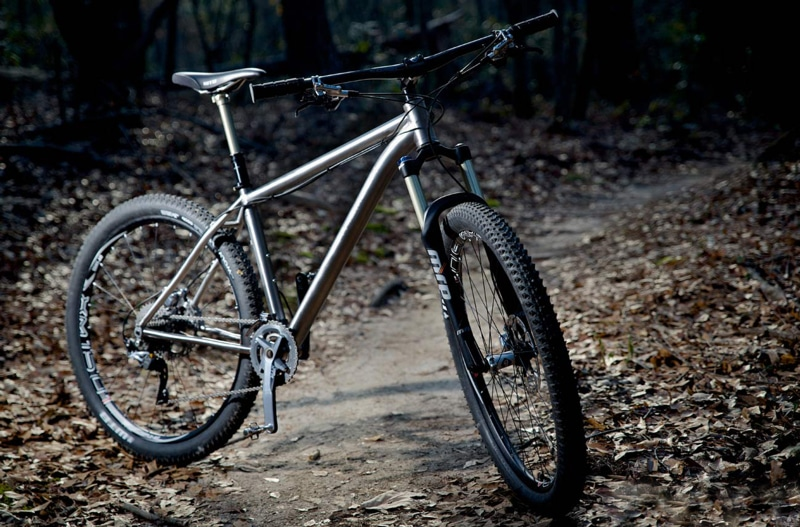 Titanium frame mountain bike