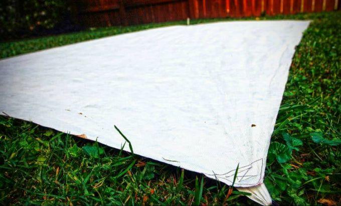 using tyvek sheet as tent footprint