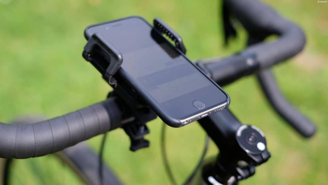 Phone mount on a bike