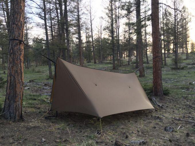 A-frame tarp shelter