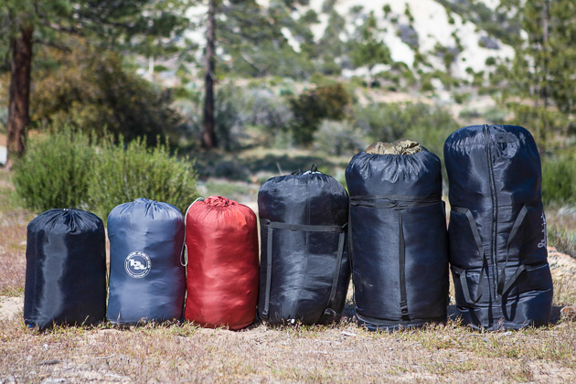 Packed sleeping bags