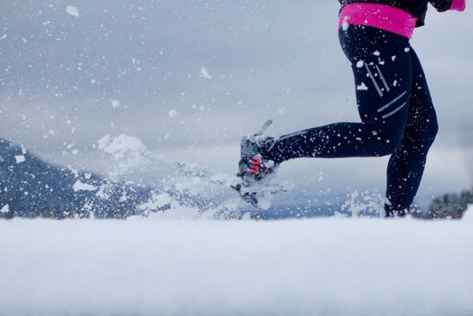 Snowshoe for running