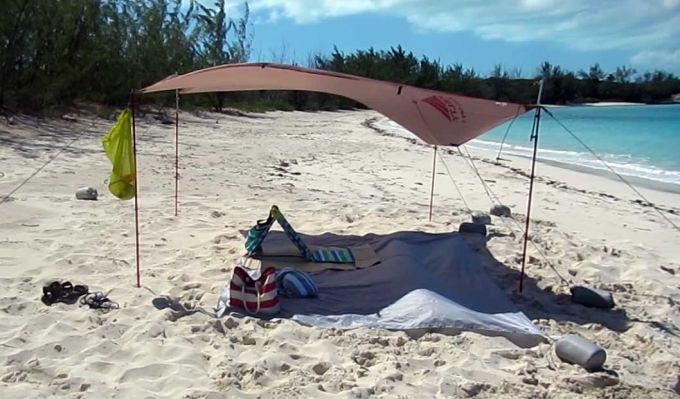 Sun shade tarp shelter