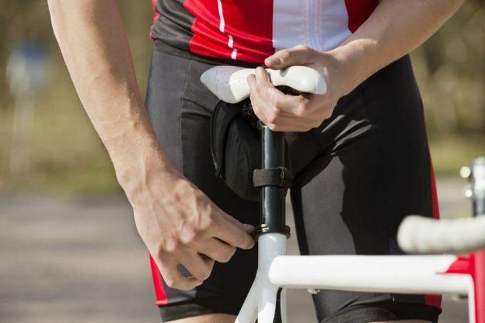 adjustability of women's bike saddle