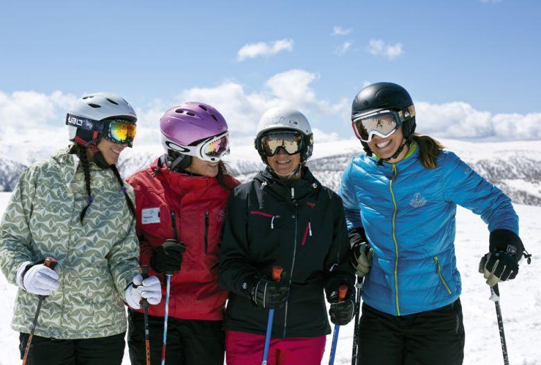 group of woman wearing ski jackets