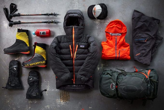 camping items with zipper