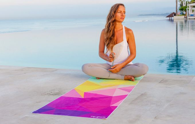colorfull yoga towel