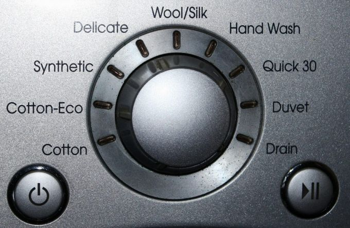washing machine on delicate cycle