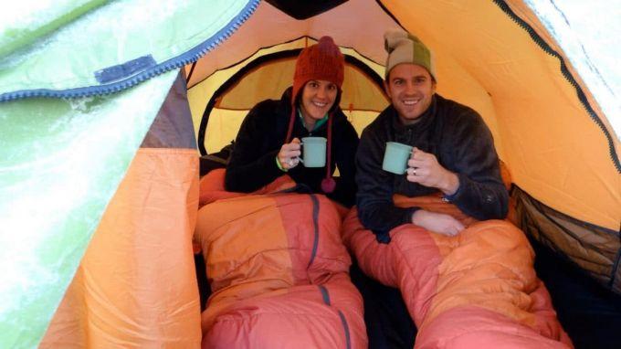 enjoy sleeping in a tent